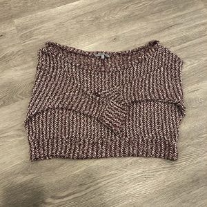Charlotte Russe Batwing Cropped Sweater Size S